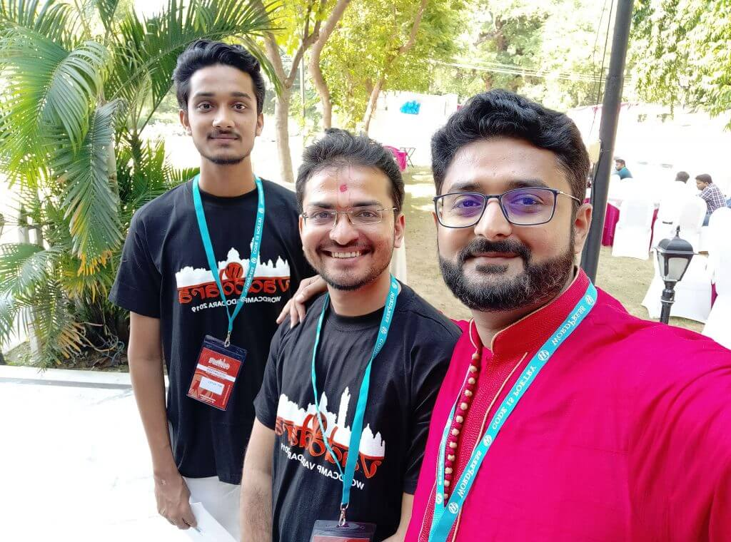 With volunteers