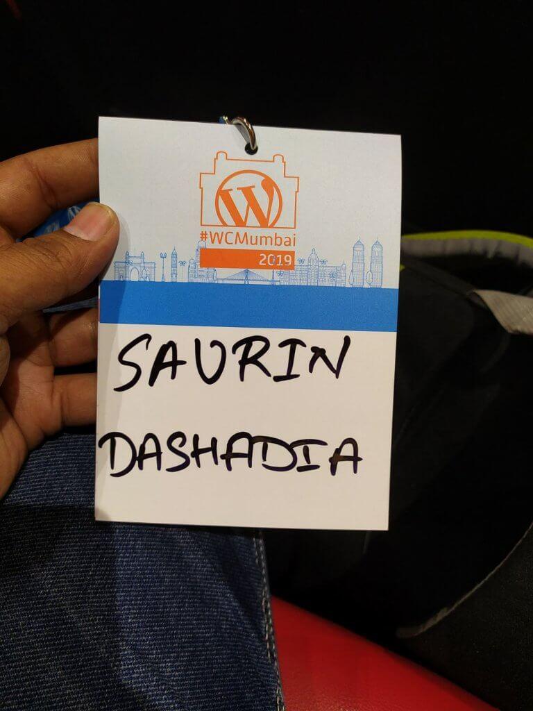 Registration Done at Wordcamp Mumbai 2019