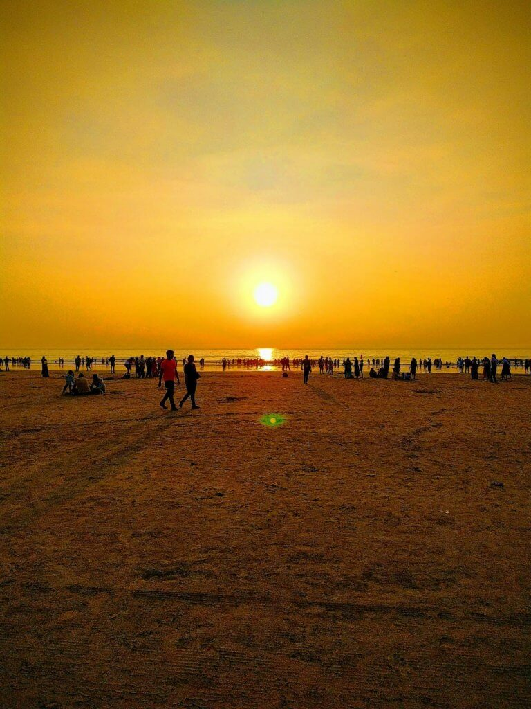 Evening at Juhu beach