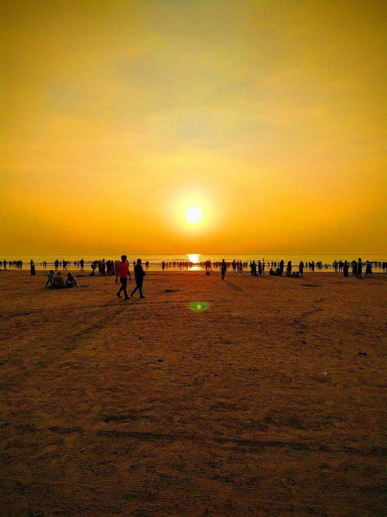 Evening at Juhu beach